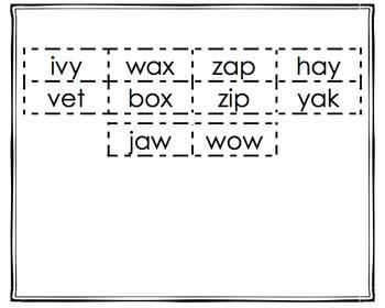 NO PREP 5 (v, w, x, y, z) Beginning Sound Sorts K-2! (Orton-Gillingham Inspired)