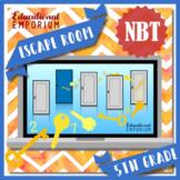 ⭐ NO PREP ⭐ 5th Grade Math Escape Room ⭐ NBT ⭐