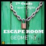⭐NO PREP Geometry Escape Room {7th Grade Math}⭐