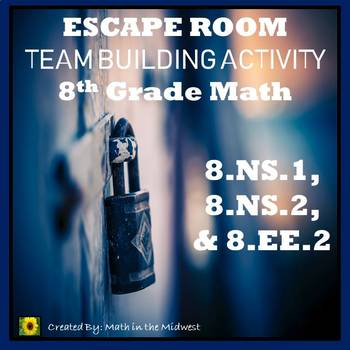 ⭐NO PREP 8th Grade Math Number System Escape Room 8 NS 1, 8 NS 2, & 8 EE 2⭐