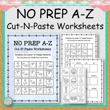 NO PREP A-Z Copy-N-Paste Worksheets
