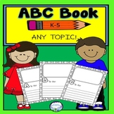 ALL ABOUT BOOK TEMPLATE FOR ANY TOPIC   K-5