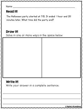 NO PREP OCTOBER 3rd Grade Daily Word Problems