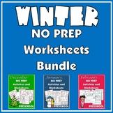 NO PREP Activities and Worksheets for Preschool – Winter Bundle
