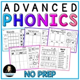 Phonics Cut and Paste Activities BUNDLE Advanced Spelling Patterns NO PREP