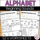 Alphabet Worksheets A-Z Beginning Sounds Mixed Activities