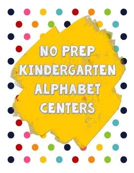 NO PREP Alphabet Centers