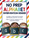 NO PREP Alphabet Intervention Binder