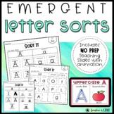 NO PREP Alphabet Letter Sorts   Emergent Spellers Word Wor