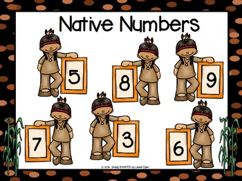 NO PREP American Indians Themed Math and Literacy Games Bundle