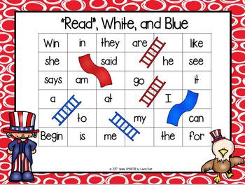 NO PREP American Symbols Themed Math and Literacy Games Bundle