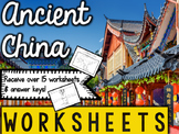 Ancient China Worksheets & Printables