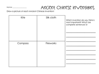 Ancient China Worksheets & Printables by Glitter in Third ...