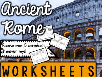 Ancient Rome Worksheets & Printables