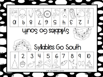 NO PREP Animals in Winter Themed Math and Literacy Games Bundle