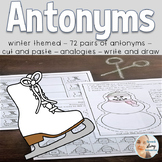 Antonyms for Speech Therapy with a Winter Theme