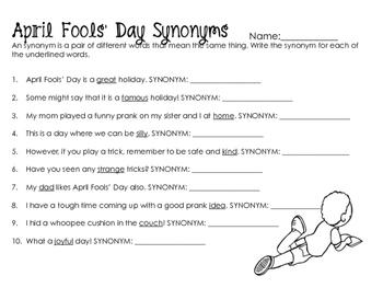 April Fools' Day Worksheets & Printables