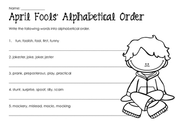 April Fools Day Worksheets for Kids - Woo! Jr. Kids Activities