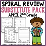 Sub Plans NO PREP Review Worksheets for April 2nd Grade
