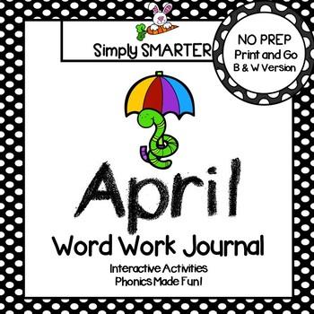 NO PREP April Word Work Journal