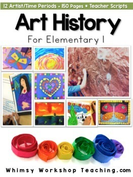 Art History for Elementary Bundle (12 Art Projects / Teacher Scripts)