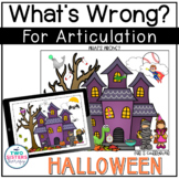 "Articulation Carryover Activity: ""What's Wrong?"" / Halloween"