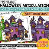 Articulation Carryover Activity What's Wrong Halloween Scenes