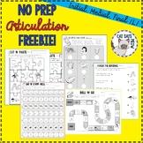 NO PREP Articulation FREEBIE: Initial, medial, final /L/