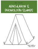 NO PREP Articulation & Phonology Sliders: Camping Speech Therapy Activity