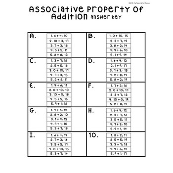 No Prep Associative Property Of Addition Making 10 Worksheets 1st