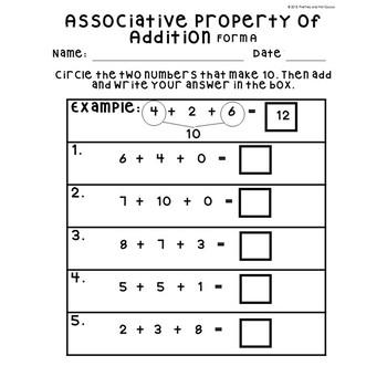 no prep associative property of addition making  worksheets st  no prep associative property of addition making  worksheets st grade