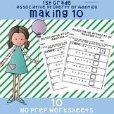 "NO PREP Associative Property of Addition ""Making 10"" Works"
