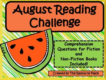 NO PREP August Reading Challenge!