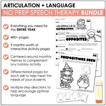 YEAR LONG NO PREP BUNDLE: Language & Articulation