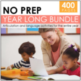 YEAR LONG NO PREP BUNDLE: Language & Articulation #Jan2019SLPMustHave