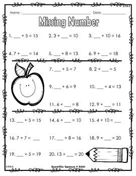 NO PREP Back to School 2nd Grade Beginning of Year Math Skills