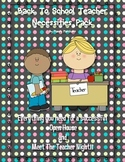 NO PREP Back to School, Meet the Teacher/Open House Printable Pages!