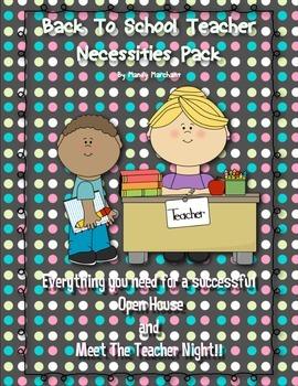 NO PREP Back to School, Meet the Teacher/Open House Printa