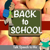 NO PREP Back to School Speech and Language