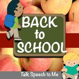NO PREP Back to School Speech and Language