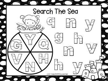 NO PREP Beach Math and Literacy Games Bundle