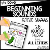 NO PREP Beginning Sounds Printables