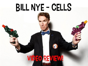 Bill Nye Cells NO PREP Worksheet PowerPoint Key Jr High biology body systems