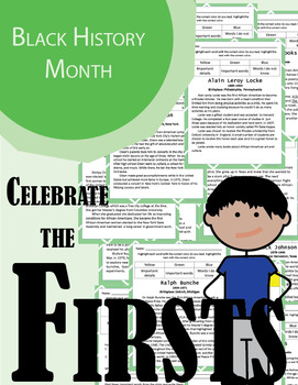 NO PREP Close Reading - Black History Month - Celebrate the Firsts