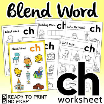 "NO PREP! Blend Word ""CH"" Worksheet"