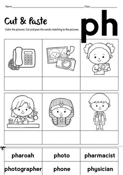 "NO PREP! Blend Word ""PH"" Worksheet"