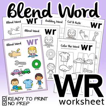 """NO PREP! Blend Word """"WR"""" Worksheet"""