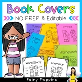 Editable Book Covers & NO PREP Covers