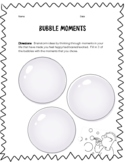NO PREP! Bubble Moment Worksheet (Using Descriptive Details)
