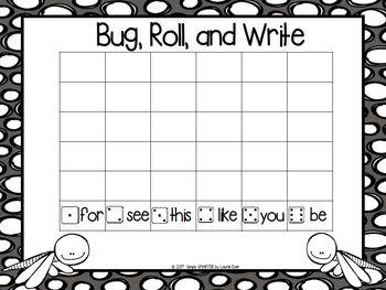 NO PREP Bug Themed Math and Literacy Games Bundle